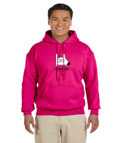Stinky Dog pink hoody sweatshirt