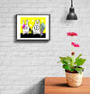 room decor stinky dog framed print date