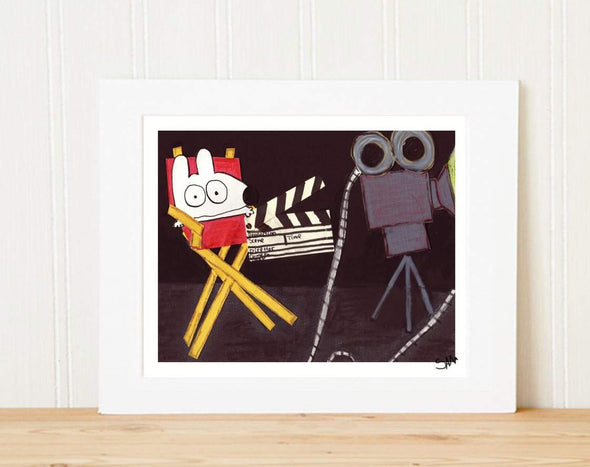 Matted Art Print | Stinky Dog Director