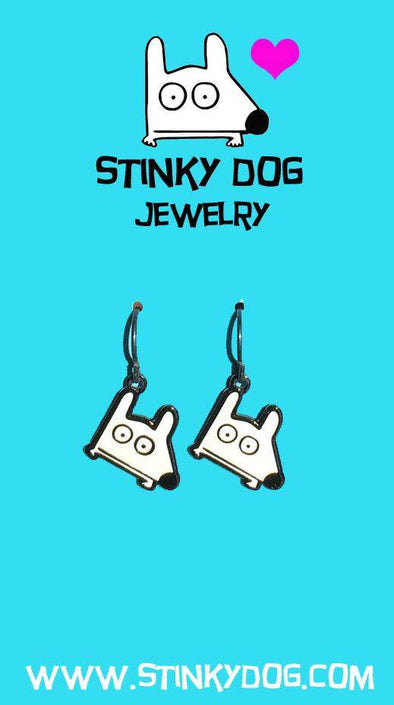 Stinky Dog jewelry Earrings | White