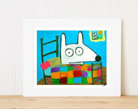 Matted Art Print | Stinky Dog Bed