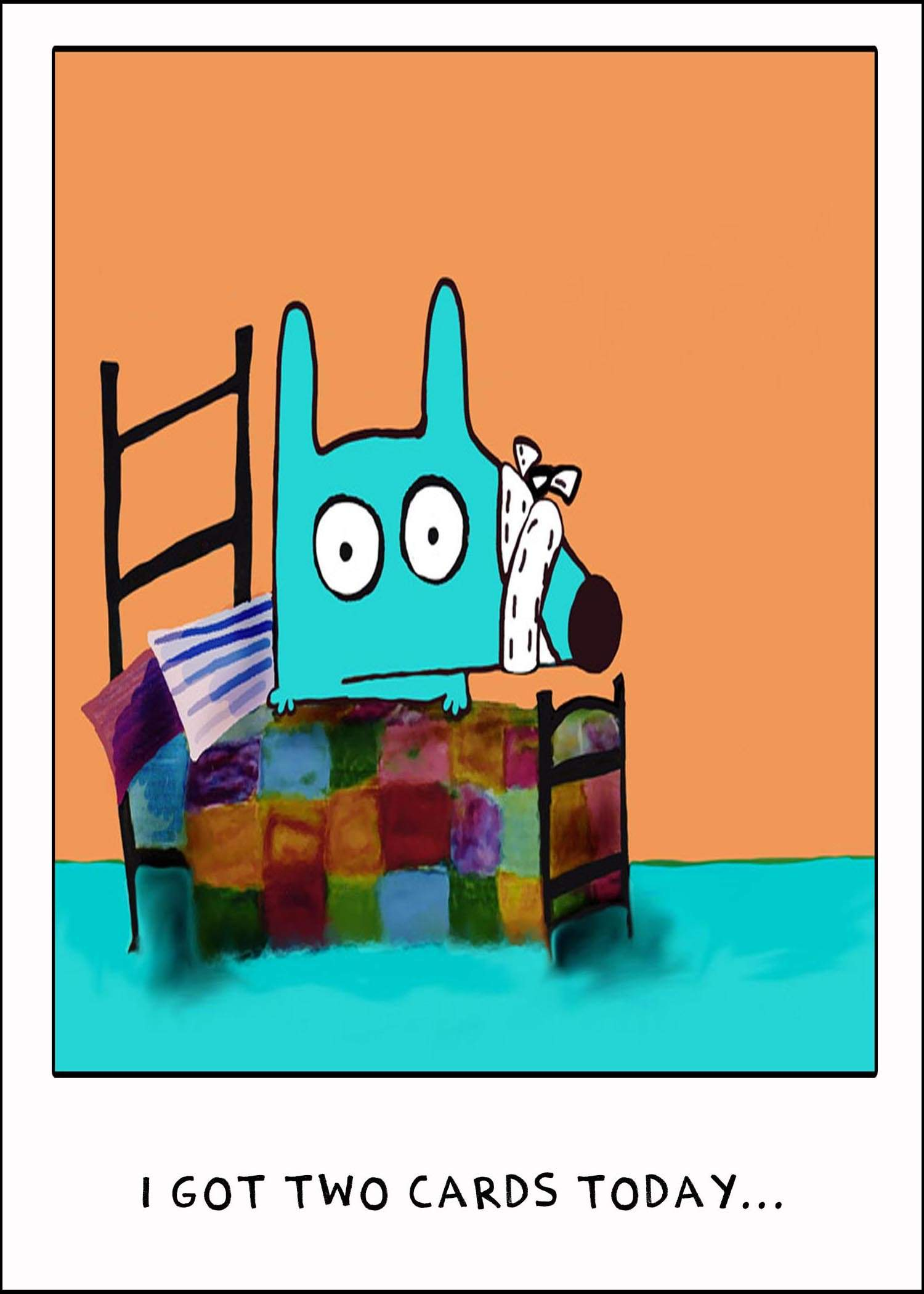 Get Well Off The Bed Greeting Card Stinky Dog Stinky Dog