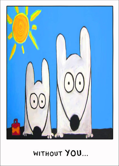 Stinky Dog greeting card- Mother's / Father's Day | Flowers