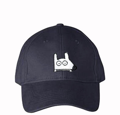 stinky dog navy blue cap hat