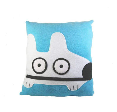 Stinky Dog Light Blue Pillow-Plush