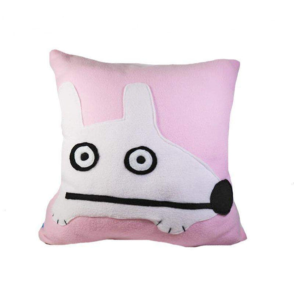 Stinky Dog Light Pink Pillow-Plush