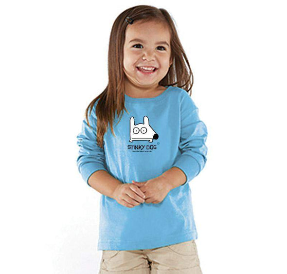 Stinky Dog Toddler Classic Blue Long Sleeve T-Shirt