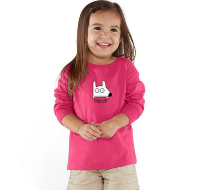 Stinky Dog Toddler Classic Pink Long Sleeve T-Shirt