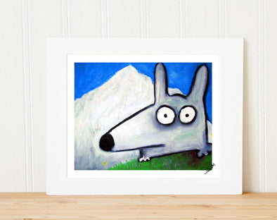 stinky dog mountain climbing print