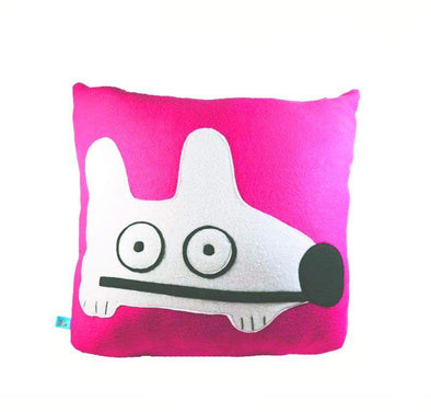 Stinky Dog Neon Pink Pillow-Plush