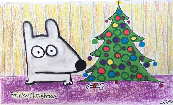 Stinky Dog-Original Art | Stinky Christmas