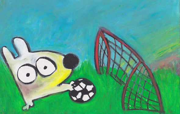 Stinky Dog-Original Art | Stinky Soccer