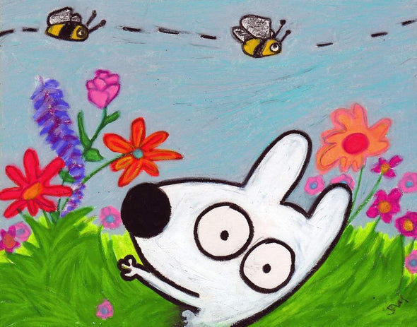 Stinky Dog-Original Art | Stinky Summer