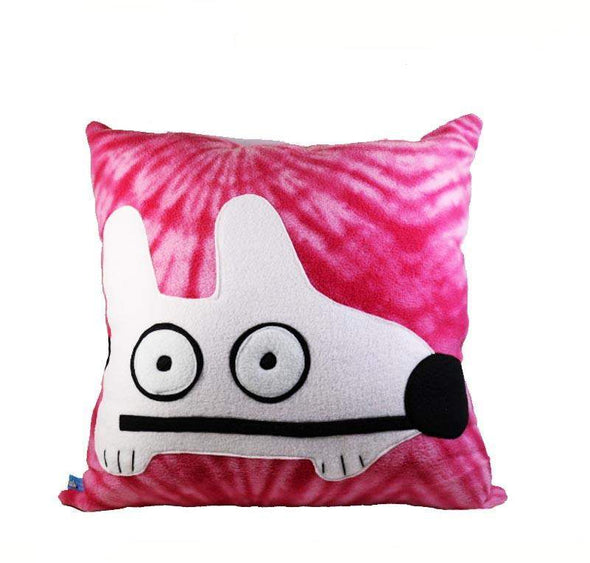 Stinky Dog Pink Tie Dye Pillow-Plush