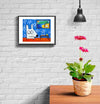 room decor stinky dog framed print retirement