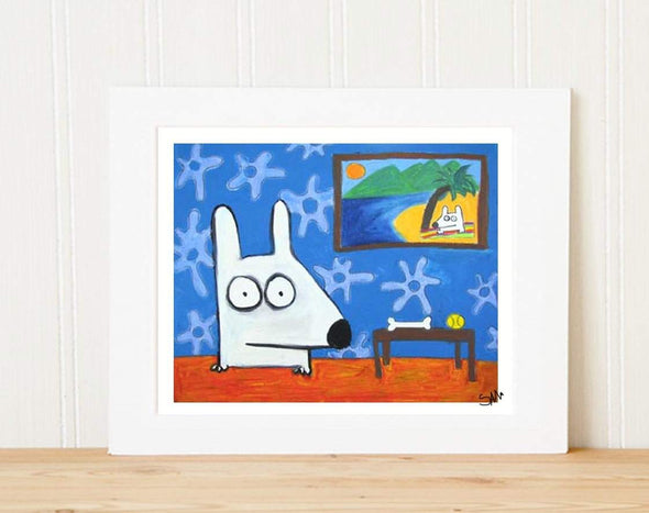 Matted Art Print | Stinky Dog Retirement