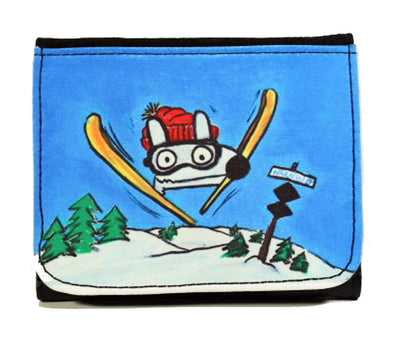 stinky dog skiing wallet