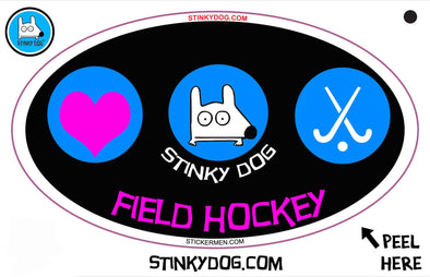 Stinky Field Hockey-sticker-Stinky Dog
