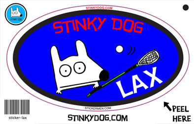 Stinky Lacrosse-sticker-Stinky Dog