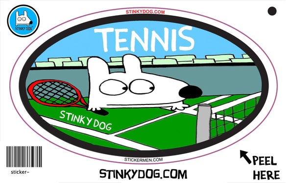 Stinky Tennis-sticker-Stinky Dog