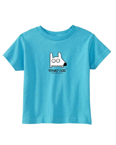 Stinky Dog Toddler Classic Aqua Blue T-Shirt