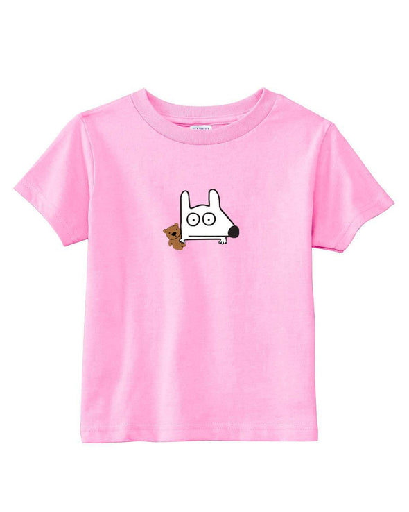 stinky dog kids pink teddy bear t-shirt