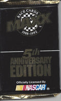 Vintage Nascar 1988-1992 Maxx Race Trading cards pack 5th Anniversary Edition 14 Cards per Pack.