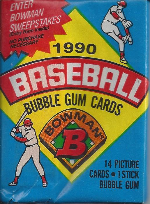 1990 Bowman Baseball Gum Cards