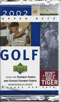 2002 Upper Deck Golf Wax Packs