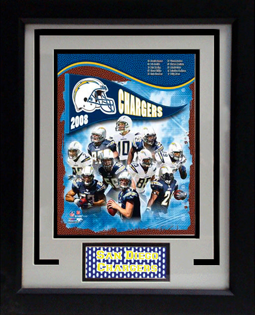 "2008 San Diego Chargers 8"" x 10"" Photograph in an 11"" x 14"" Matted Frame_1"
