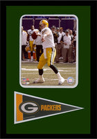 12x18 Pennant Frame - Brett Favre Green Bay Packers