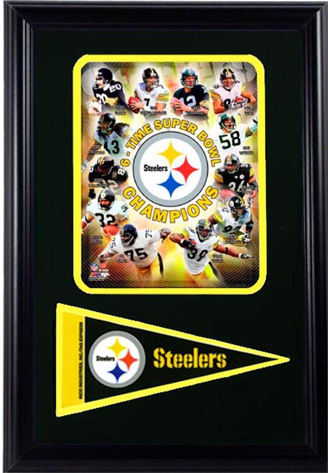 12x18 Pennant Frame - Pittsburgh Steelers Champions