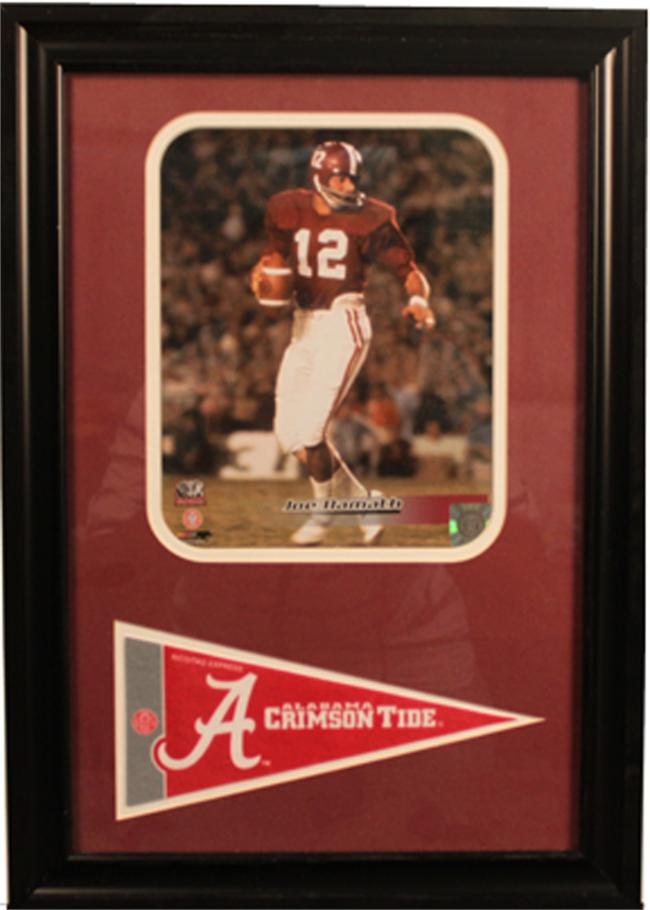 12x18 Pennant Frame - Joe Namath University of Alabama