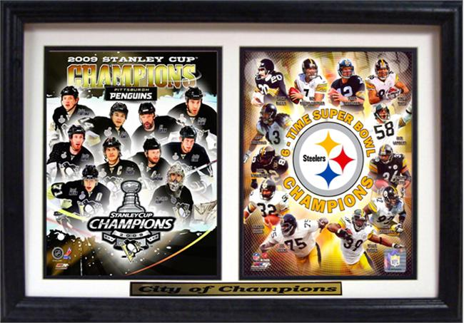 12x18 Double Frame - Pittsburgh City of Champions