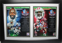 12X18 Double Frame - 2010 Hall of Fame Emmitt Smith and Jerry Rice