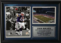 12x18 Photo Stat Frame - Tom Brady New England Patriots