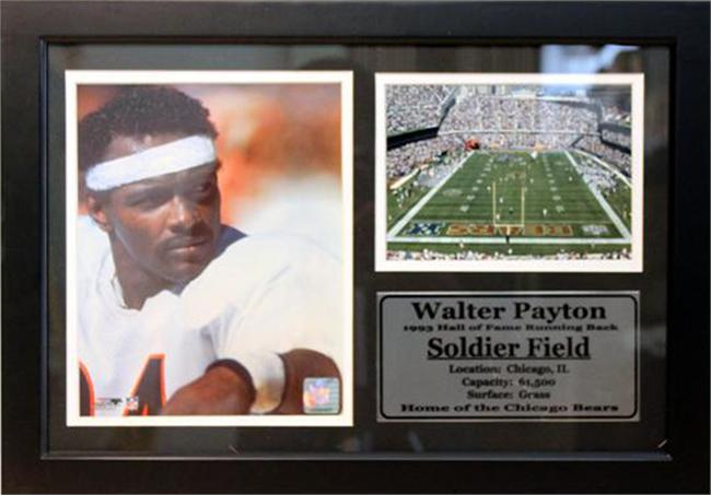 12x18 Photo Stat Frame - Walter Payton Chicago Bears
