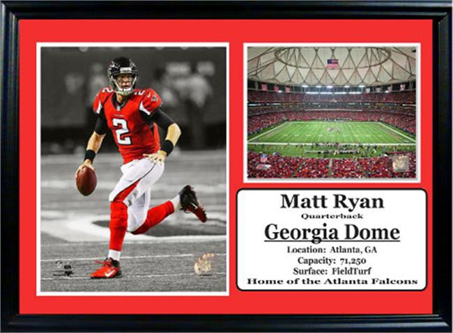 12x18 Photo Stat Frame - Matt Ryan Atlanta Falcons