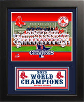 11x14 Deluxe Frame - Boston Red Sox 2013 World Series Champions Seated