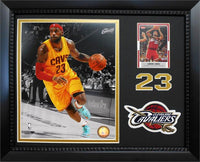 11x14 Card/Patch Frame - LeBron James Cleveland Cavaliers