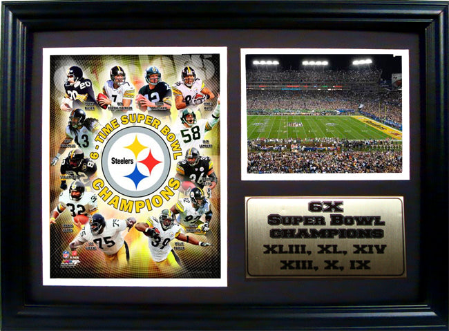 12x18 Photo Stat Frame - Pittsburgh Steelers Champions