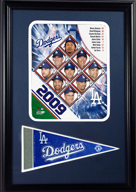 12x18 Pennant Frame - 2009 Los Angeles Dodgers