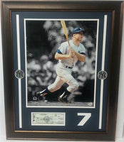 24x28 Check Frame - Mickey Mantle New York Yankees