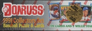 This is a 1991 donruss baseball cards complete factory sealed set of 792 cards including rated rookies and cards of TPO MLB superstars and hall of fame stars.