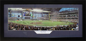 "15x35 Panoramic Frame - Milwaukee Brewers ""First Pitch"""