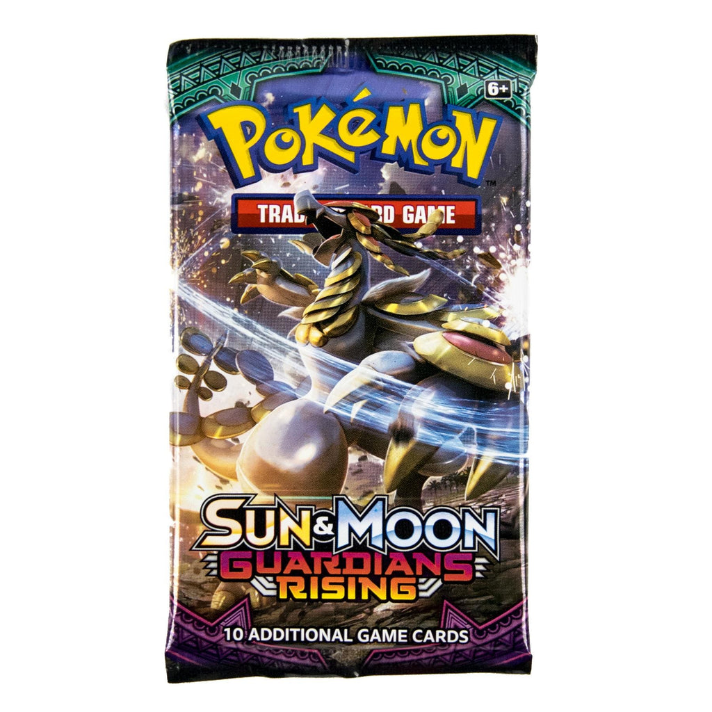 These are individual Booster Packs for the Pokemon TCG: Sun&Moon Guardians Rising. Included in each pack are 10 pokemon cards, one of which is of at least rare quality, along with a special code card for the Pokemon Trading Card Game Online.
