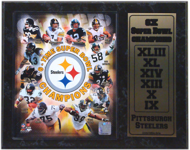 12x15 Stat Plaque - Pittsburgh Steelers Champions