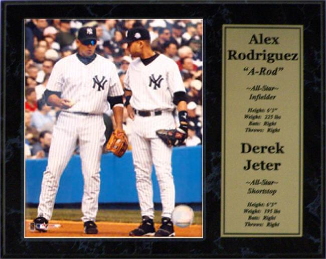 12x15 Stat Plaque - Alex Rodriguez and Derek Jeter New York Yankees
