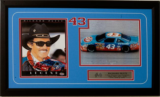 15x35 Autographed Frame - Richard Petty