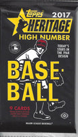 2017 Topps Heritage High Number Wax Pack